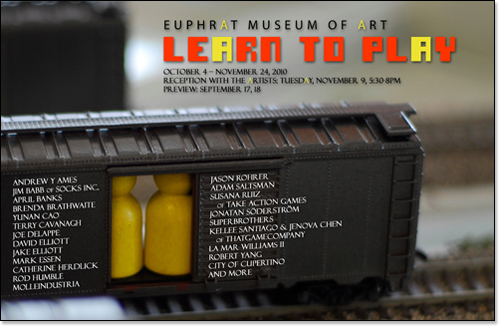 Learn To Play exhibition card