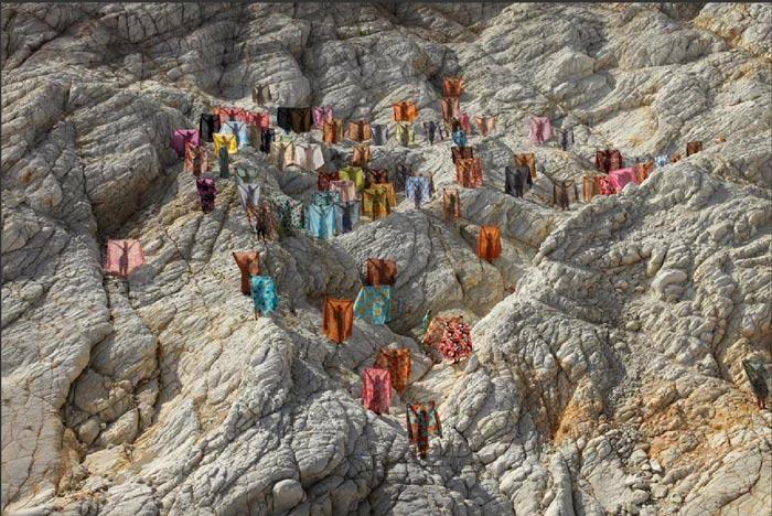 Minoosh Zomorodinia Seventy Thousand Curtains Collaborative Work by Open5/5baz